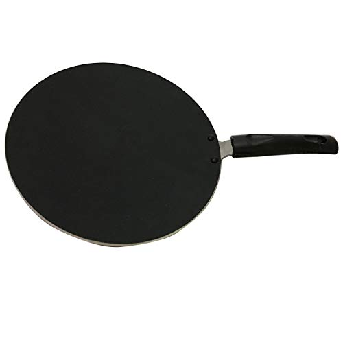 Nonstick Coating and Bakelite Handle Easy pancakes omelette fried eggs bread Cookware Best Crepes Pan Rounded Base durable Roti Chapati Paratha pan non stick,Round Griddle,Cookware pan