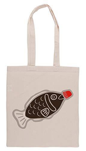 Luxogo Sushi Soja Pez Modelo En Azul Bolsa De Compras Groceries Beige Shopping Bag