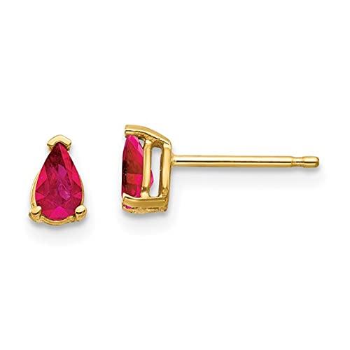 Jewelry-14k Ruby Ruby Earrings