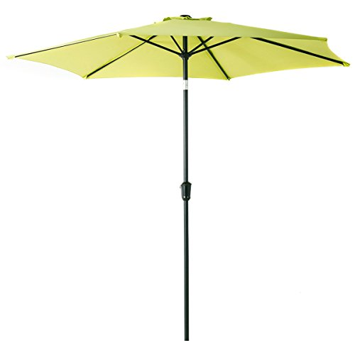 Grand patio 9 FT Aluminum Patio Umbrella, UV Protected Outdoor Umbrella with Push Button Tilt and Crank, Lime Green
