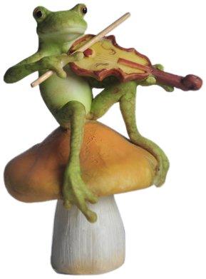 Top Collection Estátua de sapo de fada no cogumelo ao ar livre da Encantada Story