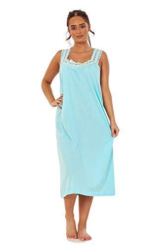 Women Night Wear Sleeping Costume Marlon Poly Coton Sans Manches Nuisette Chemise de nuit