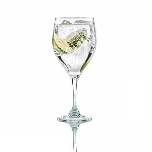Hostelvia - Lot de 6 verres à vin Vintage en verre trempé résistant 420 ml - Passe au lave-vaisselle
