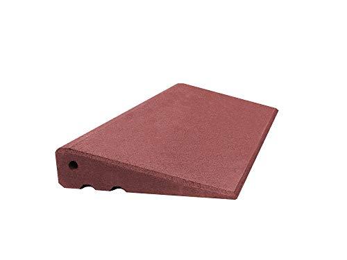 Türschwellenrampe Excellent 750/65 mm hoch aus Gummigranulat hochverdichtet (rotbraun)