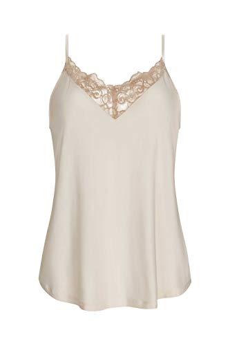Mey Camisol 75508 - Camiseta de tirantes con encaje y cuello en V para mujer New Pearl XS