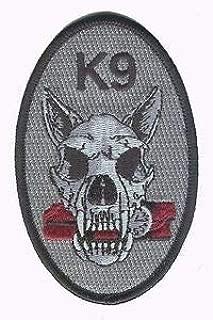 Hook/Loop K9 Black Canine Dog Skull Bomb Detection Handler Police Patch by HighQ Store