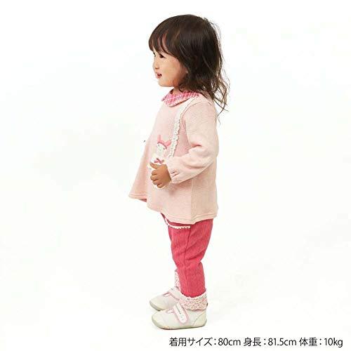 『coeur a coeur (クーラクール) トレーナー (70~100cm) キムラタンの子供服 (44419-184) ピンク 80』の6枚目の画像