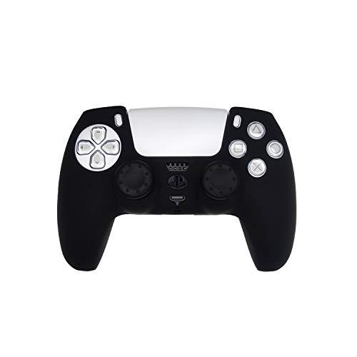 Custodia protettiva controller Playstation 5 con cappucci di protezione nero, Custodia in silicone controller Ps 5 con cappucci di protezione, Custodia in silicone controller Ps 5, Set di accessori