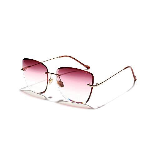Drreny Sonnenbrillen Mit Großem Rahmen Ohne Rand Sonnenbrillen Mit Großem Rahmen New Marine Transparent Color Glasses Purple