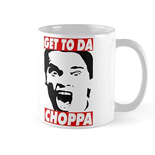 Get To Da Choppa Arnie Mug