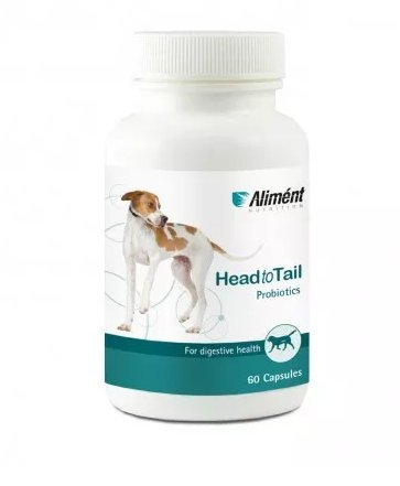 Alimént Head To Tail Probiotic For Dogs 60 Capsules - 6 Billion CFU...