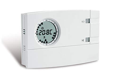 Cronotermostato analógico digital semanal de pared Cr 309 S programable 1 Crcr309 S entrada mando telefónico 2 niveles de temperatura anticongelante fijo a 5 °C