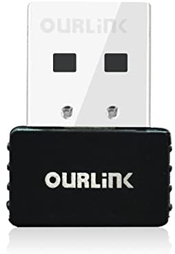 OURLiNK 600Mbps AC600 Dual Band USB WiFi Dongle & Wireless Network Adapter for Laptop/Desktop Computer - Backward Compatible with 802.11 a/b/g/n Products (2.4 GHz 150Mbps, 5GHz 433Mbps)