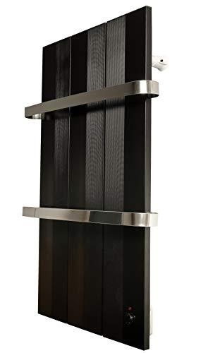 Finesa handdoekradiator-elektrisch, warmteafgifte 400-750 W, termostaat, handdoekdroger, handdoekhouder 800x558 zwart