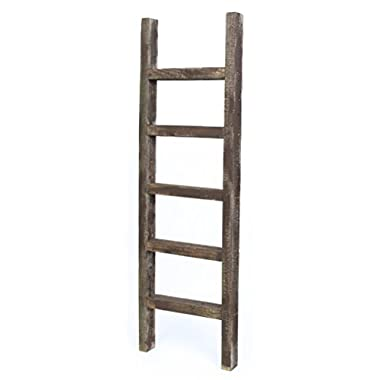 BarnwoodUSA Rustic Decorative Ladder - 100% Upcylced Wood (48  x 12  x 2.5 , Espresso)