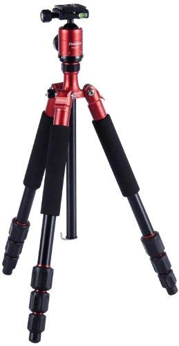Rollei CT-4A - Trépied universel - Fonction Monopode et Trépied de table - 147 cm Hauteur - Rouge