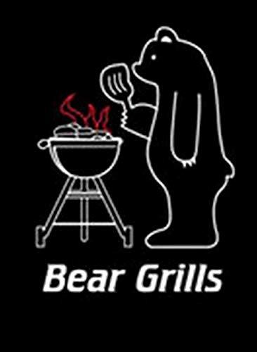 Iconic Aprons BEAR GRILLS - Juego de delantal y toallas de té para hombre, diseño de chef y barbacoa