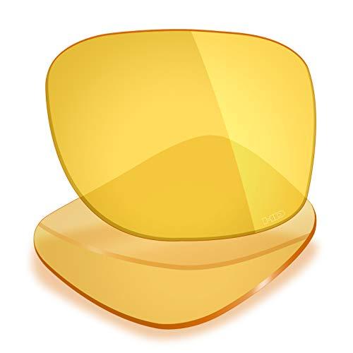Mryok+ Polarisierte Ersatzgläser für Oakley Plaintiff Squared - HD Yellow