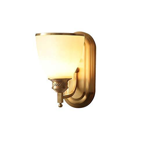 ZA Retro koperen wandlamp, glas slaapkamer nacht woonkamer achtergrond wandlamp, Aisle buitentrappenhuis lamp