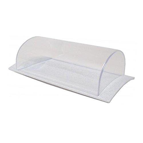 Rollenbutterdose mit Deckel granit-weiß aus Kunststoff Aufbewahrung Frischhaltung Butterglocke Butterdose Käsedose Käseglocke Wurstdose