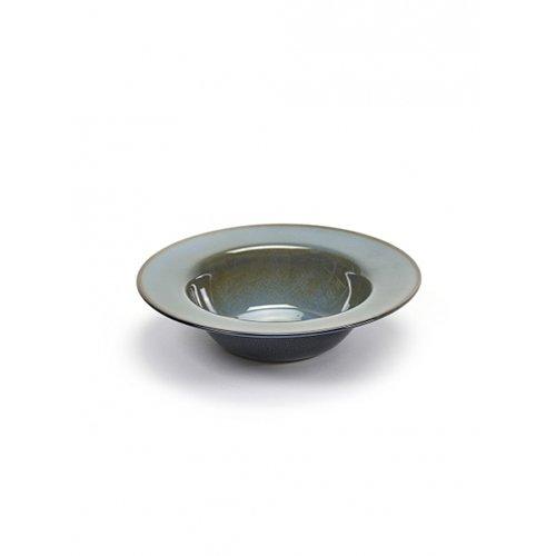 Serax - Suppenteller/Teller tief - Keramik - blau-grau/dunkelblau - Ø 21,3 - Höhe 5 cm