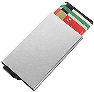 RFID Credit Card Holder Pop Up with Sliding Blocking Security Slim Wallet Case for Men and Women (Pack of 1)