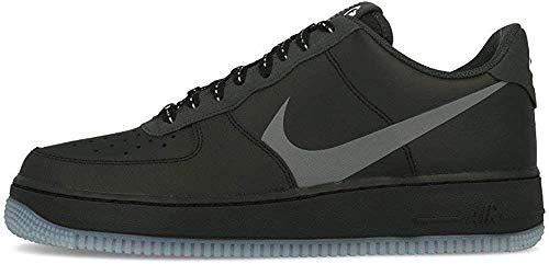 Nike Herren AIR Force 1 '07 LV8 3 Basketballschuh, Black Silver Lilac Anthracite White, 44 EU