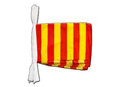 Digni Guirlande 15 drapeaux Bande jaune-rouge - 5,9 sticker gratuit
