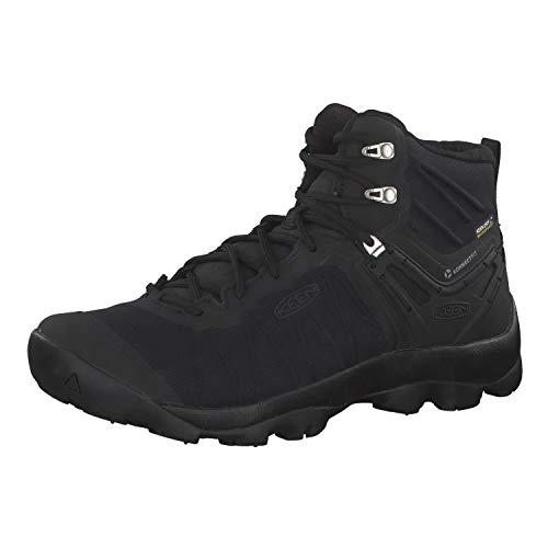 KEEN mens Venture Mid Wp Hiking Boot, Black/Black, 10.5 US