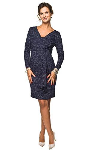 Torelle Damen 2in1 Umstandskleid mit Stillfunktion, Modell: Blufi, Langarm, dunkelblau-Weiss