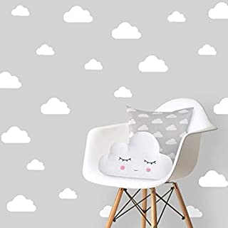 The Boho Design Clouds Wall Vinyl Decal Decor Nursery. Adhesive Cloud Stickers for Kids. Baby Nordic nubes Bedroom Decorat...
