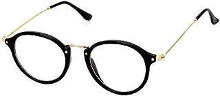 نظارات كوريان ستايل بإطار معدني شديد الخفة وتصميم ريترو لطيف ومسطح للجنسين