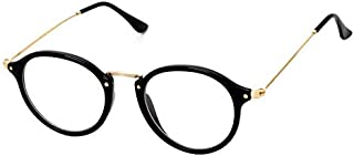 Korean Style Ultralight Metal Frame Eyeglasses Retro Cute Flat Eyewear for Unisex