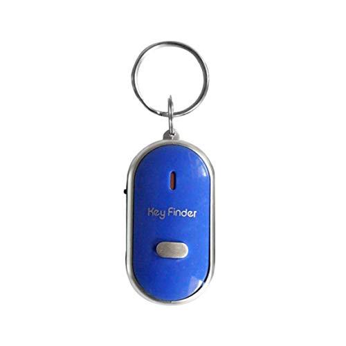 MOHAN88 Buscador de Teclas con Silbato LED Parpadeante Pitido Control de Sonido Alarma Rastreador de localizador de buscador de Teclas antipérdida con Llavero - Azul