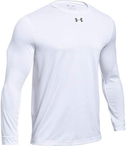 Under Armour Camiseta Manga Larga Hombre de Poliéster Blanca