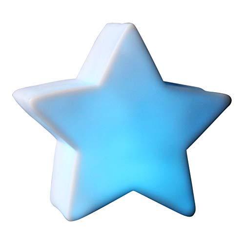 2 LED Star Lights Cambia colore per bambini Night Lamp 8cm Alimentato a batteria per camera da letto, sala sensoriale, festival di PK Green