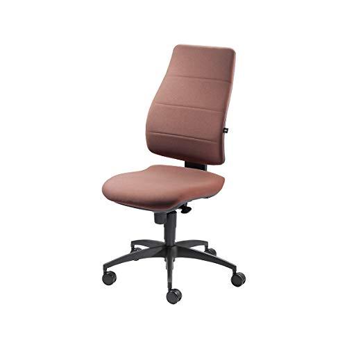 Bandscheiben-Drehstuhl | Rückenlehne gepolstert | Dunkelbraun - Bandscheibendrehstuhl Bandscheibendrehstühle Bürodrehstuhl Bürodrehstühle Bürostuhl Bürostühle Drehstuhl Drehstühle Schreibtischstuhl Schreibtischstühle Universalstuhl Universalstühle