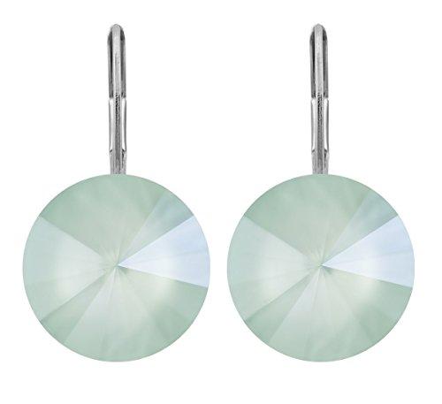 petra kupfer Damen Ohrringe Ohrhänger Rivoli 1 Swarovski®-Kristall 12 mm Mint Grün Mint Green Ver...