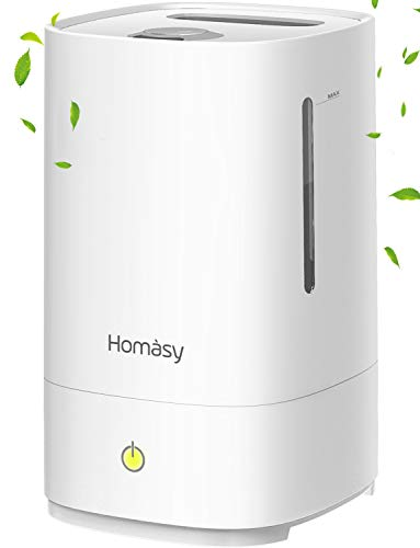 Homasy Cool Mist Humidifiers 4.5L [UPGRADED],28dB Super-Quiet Air Humidifier for...
