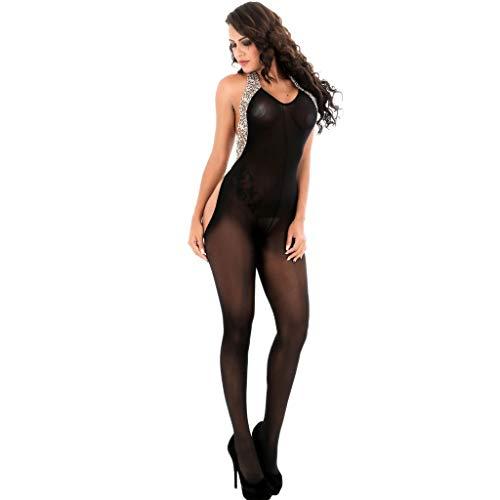 Zhen+ Damen Erotic Reizwäsche Dessous Lingerie Women Open Crotch Bodystockings Perspective Underwear Pajama