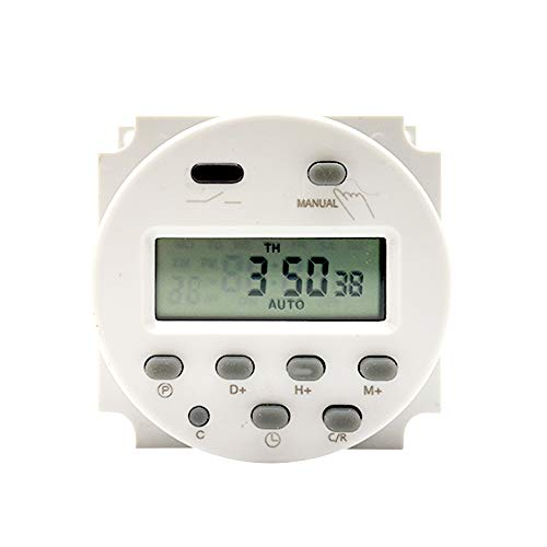 Fesjoy Interruptor de Temporizador programable Digital Cuenta Regresiva Mini Interruptor de Control de Tiempo Controlador de Temporizador Encendido y Apagado automático 220V