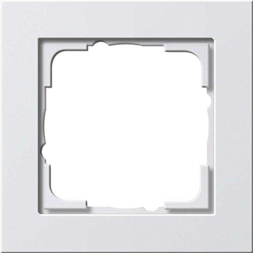 Gira 021122 Abdeckrahmen 1-fach Gira E2, reinweiß matt
