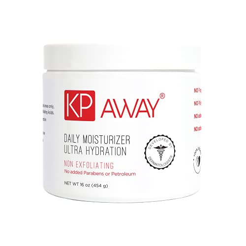 KPAway Keratosis Pilaris Treatment Emollient - Acid Free KP Cream, Lotion Made With Organic Coconut Oil, Baby Friendly, Paraben Free, For Rough & Bumpy Skin (16oz)