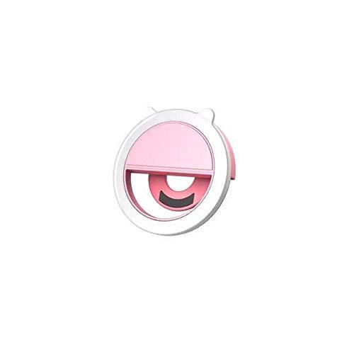 YEEWA Clip on Selfie Ring Light con 32 LED USB Ricaricabile Luce di riempimento Portatile per Smartphone, Pad, specchi per Il Trucco a Forma di Orecchio di Gatto