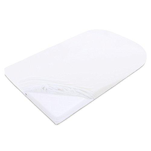babybay Jersey Spannbetttuch Deluxe passend für die Modell Matratze Kinderbett-Umbausatz Original und Maxi, weiß, 140 x 89 cm (1er Pack)