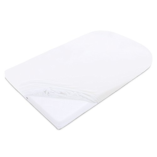 Babybay Jersey Cover Deluxe Suitable For Model Mattress Cot Conversion Original And Maxi White - 930 g
