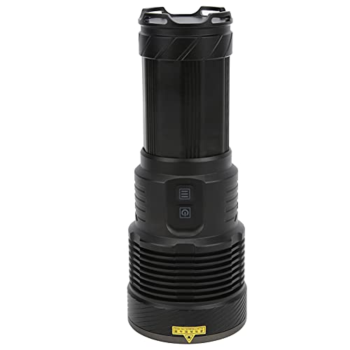 Linterna LED Recargable, Potente Linterna LED Portátil para Exteriores Interfaz Tipo C Carga USB Banco de energía IPX5