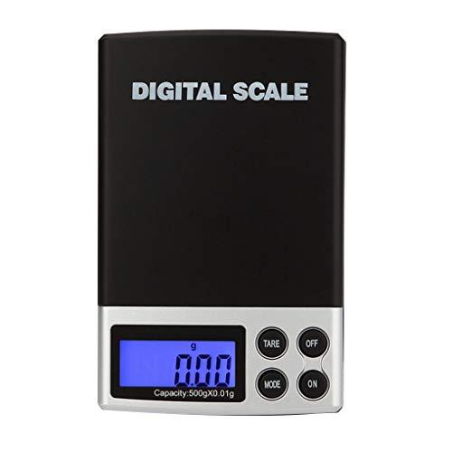 Elenxs Escala de la joyería Digital Lab Oro Hierba Balance del gramo del Peso Que Pesa la Escala 100g / 0.01g 200g / 0.01g 300g / 0.01g 500g / 0.01g