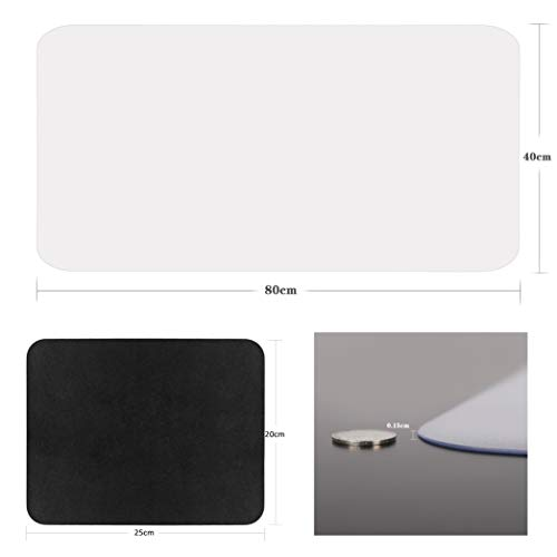 """YSAGi Clear Desk Pad Protector, Round Edge Non Slip Clear Writing Mat, 31.5""""x15.7"""" Waterproof PVC Clear Desk Mat with 7.9""""x9.8"""" Waterproof PU Leather Mouse Pad for Office/Home (Frosted+Black) Photo #2"""