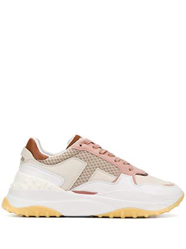 Tod's Luxury Fashion Damen XXW45B0BB50NIU0NZQ Rosa Leder Sneakers | Ss21